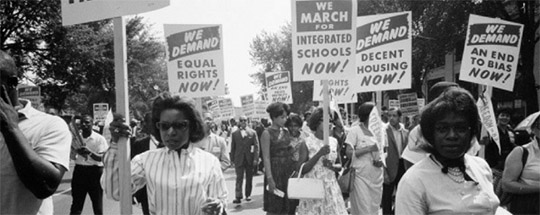 Marchers in the Civil Rights Movement