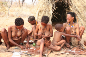 Khoisan women and children